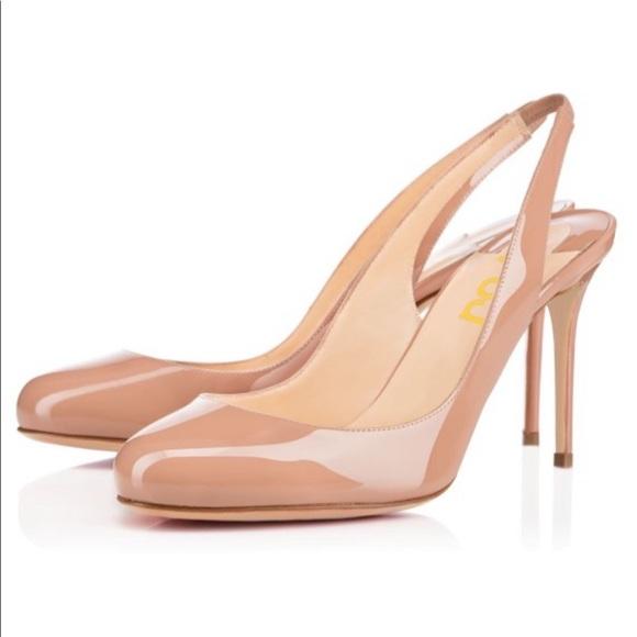 Women Blush Stiletto Heels Round Toe